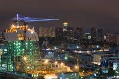 Construction d'évolution de tour à la ville de Moscou Image libre de droits
