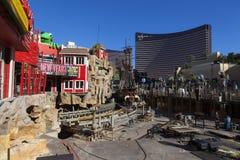 Construction d'île de Treaure à Las Vegas, le 10 décembre 2013. Image libre de droits
