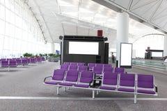 Construction d'aéroport international et porte d'embarquement Photo stock