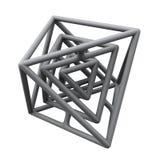 Construction 3d abstraite Image libre de droits