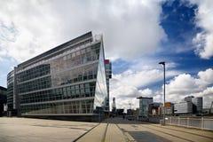 Construction d'affaires à Dusseldorf Image libre de droits