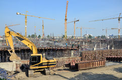 Construction d'affaires de bâtiment chez la Thaïlande Photo libre de droits