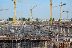 Construction d'affaires de bâtiment chez la Thaïlande Photos stock
