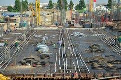 Construction d'affaires de bâtiment chez la Thaïlande Photographie stock