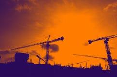 Construction d'affaires de bâtiment chez la Thaïlande Photos libres de droits
