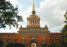 Construction d'Amirauté, St Petersbourg Photo stock