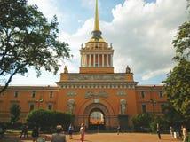 Construction d'Amirauté, St Petersbourg Photos libres de droits