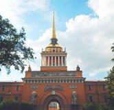 Construction d'Amirauté, St Petersbourg Image libre de droits