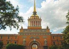 Construction d'Amirauté, St Petersbourg Photo libre de droits