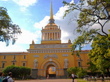 Construction d'Amirauté, St Petersbourg Photos stock
