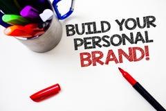 Construction d'apparence de signe des textes votre appel de motivation de marque personnelle Photo conceptuelle créant le fond bl images libres de droits
