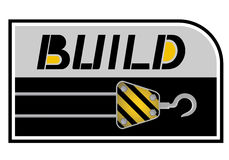 Construction d'autocollant Photographie stock libre de droits
