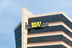 Construction d'entreprise de sièges sociaux de Best Buy Photo libre de droits