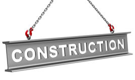 Construction. 3d generated picture of a construction concept stock illustration
