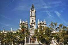 Construction d'hôtel de ville à Valence Photo stock