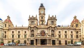 Construction d'hôtel de ville à Valence, Espagne photographie stock