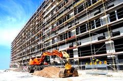 Construction d'immeuble de bureaux Photographie stock