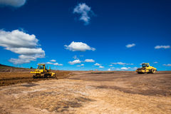 Construction d'infrastructure de terrassements photographie stock