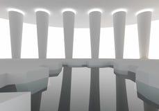 Construction d'intérieur de l'espace Image libre de droits