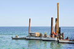 Construction d'océan dans Busselton Photographie stock
