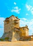 Construction d'Ol en montagne Athos Photographie stock libre de droits