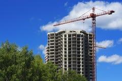 Construction d'un à plusiers étages Photographie stock libre de droits