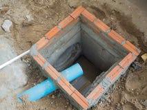 Construction d'un égout photo libre de droits