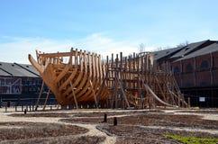 Construction d'un bateau Photos libres de droits