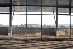 Construction d'un centre commercial Images stock
