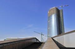 Construction d'un gratte-ciel Photographie stock