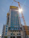 Construction d'un gratte-ciel Photos stock