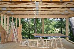 Construction d'un nouveau porche Photo stock