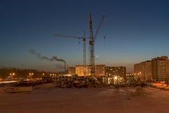 Construction d'un nouveau voisinage Photos stock