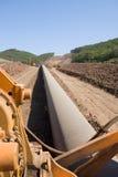 Construction d'un oléoduc neuf images libres de droits