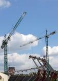 Construction d'un stade Photo libre de droits