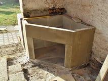 Construction d'une cheminée extérieure Photographie stock