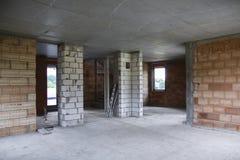 Construction d'une maison Photographie stock libre de droits