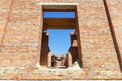 Construction d'une maison de brique Images libres de droits