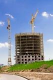 Construction d'une maison de rapport Photos stock