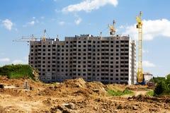 Construction d'une maison de rapport Photo libre de droits