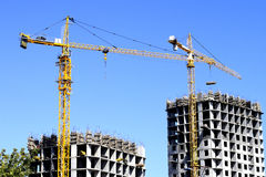 Construction d'une maison résidentielle Photographie stock