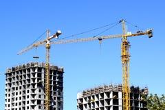 Construction d'une maison résidentielle Images libres de droits