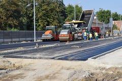 Construction d'une route neuve Photographie stock libre de droits