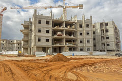 Construction d'une zone résidentielle image libre de droits