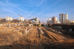 Construction dans la ville Photographie stock