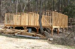 Construction dans les bois Photos stock