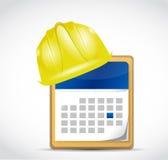 Construction dates illustration design Stock Image