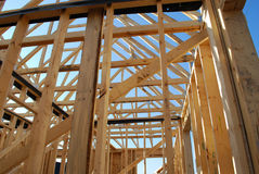 Construction de bâtiments à l'intérieur Images stock