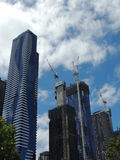 Construction de bâtiments à Melbourne Image stock