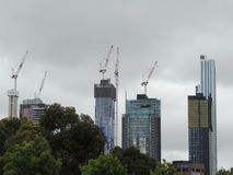 Construction de bâtiments à Melbourne Images stock
